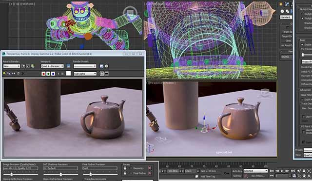 3ds max render page