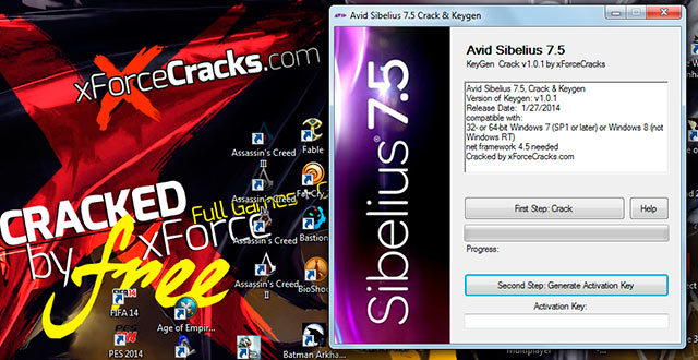 Sibelius75 cracked by xforcecracks