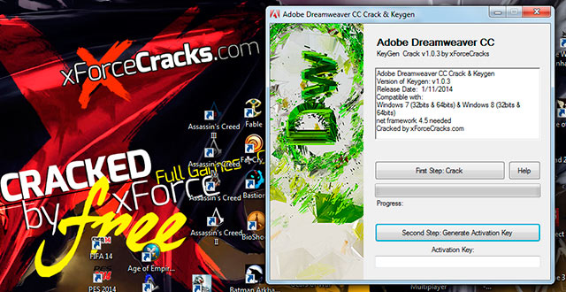 DREAMWEAVER CC-2014 crack-v103 by xforce