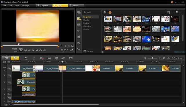 Videostudio New Workspace