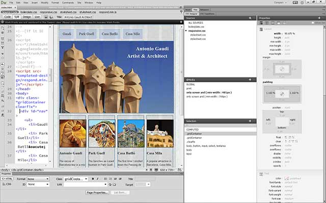 Adobe Dreamweaver Live View