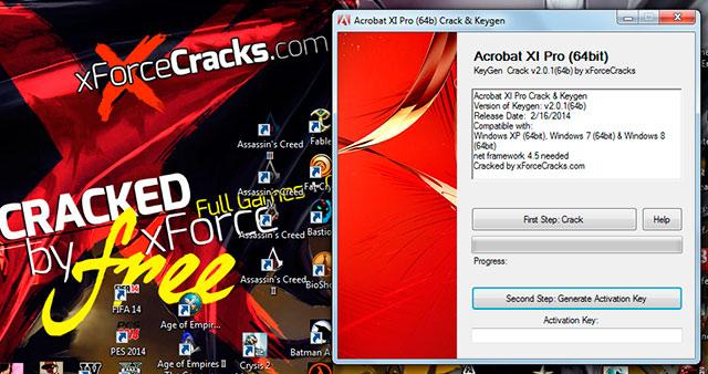 Acrobat XI pro 64bit v2.0.1(64b) cracked by xforce