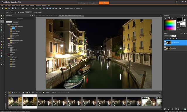 Paintshop pro x6 Workspace