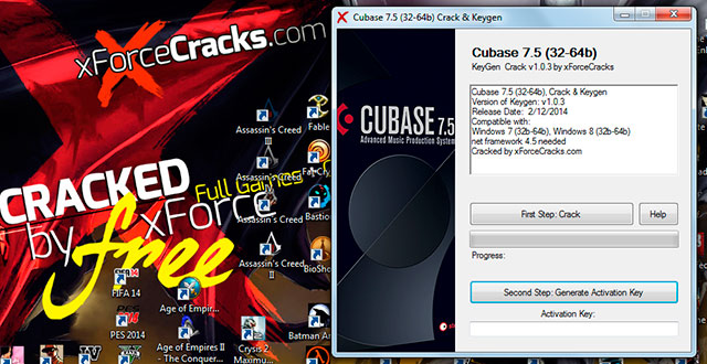 Cubaase 7.5 cracked by xforce v1.0.3