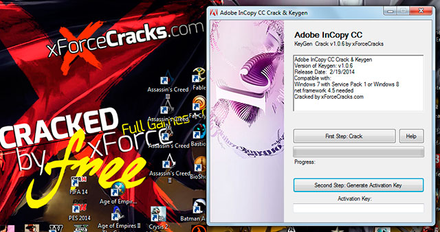 inCopy CC cracked by xforce