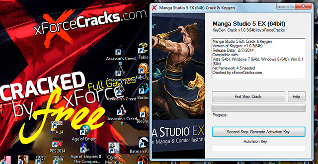 Manga Studio 5EX cracked by xforce