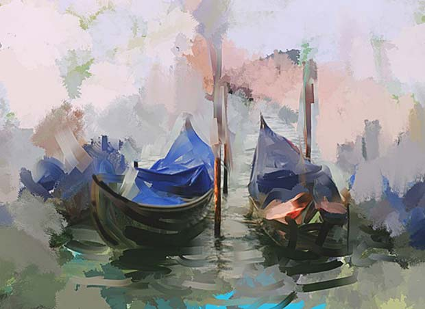 "Corel Painter 2015 ""two gondolas"" by Melissa Gallo"