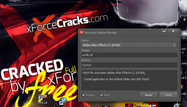 Adobe CC Universal cracked by xforce