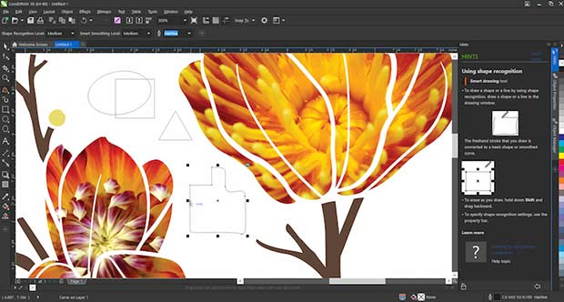CorelDraw x8 new touchdraw