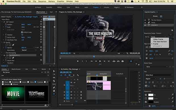 Open, access, and work on multiple projects simultaneously. Jump between episodes or scenes organized as separate projects