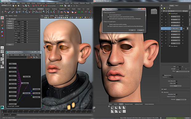 highly detailed 3D characters and environments with Mudbox
